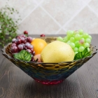 China Glass fruit bowl set,glass plate and glass fruit bowls wholesale factory