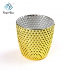 China Gold mercury glass votive candle holder suppler wholesale gold votive candle holders factory