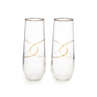 China Gold rim stemless champagne flutes supplier factory