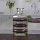 China High quality essential oil diffuser bottle clear striped oil aroma diffuser bottle wholesale factory