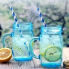 China Home goods mason jar glasses 16 oz blue mason jar containers supplies factory