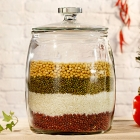 China Large storage glass jars glass cookie jars wholesale factory