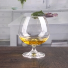 China Lead free crystal cut  brandy glasses wholesale factory