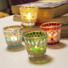 China Mosaic votive glass candle holders manufacturer factory
