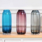 China Red glass vase and cheap blue vases wholesale factory