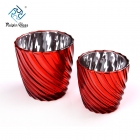 China Electroplating Spray Red Color Votive Candle Holders Supplier factory