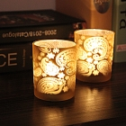 China Retro light gold candle holder wholesale,stained glass candle holders factory