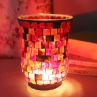 China Sales promotion mosaic candle holder,red candle holder wholesale factory