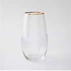 China Shenzhen glassware supplier glass drinking cups with gold rim factory