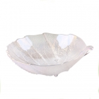 China Silver leafy shape glass dried fruit bowl for sale factory