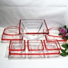 China Square glass bowl suits transparent glass fruit plate supplier factory
