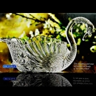 China Swan crystal glass fruit bucket beautiful glass fruit containers wholesale factory