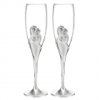 China Toasting Flutes Wedding Silver glass champagne glasses wedding champagne flutes wholesale factory