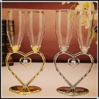 China Wedding champagne glass sets suppliers factory