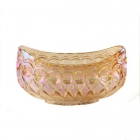 China Wholesale electroplated boat shaped glass fruit bowl factory