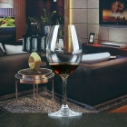 China Wholesale home goods 9 oz crystal stemware glass for wine factory