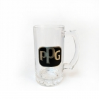China Wholesale metal logo beer mugs with handle factory