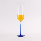 China Wholesale red blue black three colors of glass champagne flutes factory