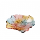 China vintage sunflower shaped glass fruit plate wholesale in shenzhen factory
