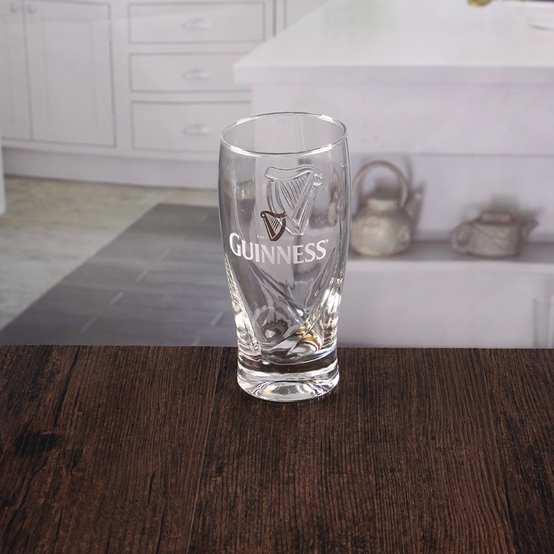 350ml 12oz Personalised Decal Thick Bottom Beer Glass