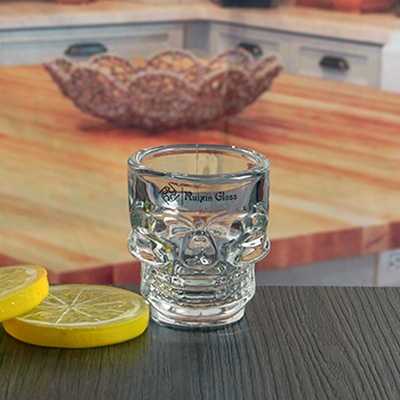 45 Ml 1 5 Oz Bar Skull Shaped Shot Glass Custom Wholesale