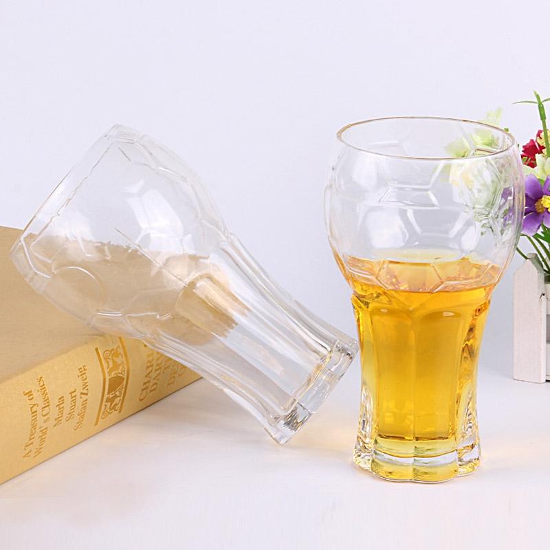 Bar Popular Glass Beer Mugs Supplier Football Cup Tall