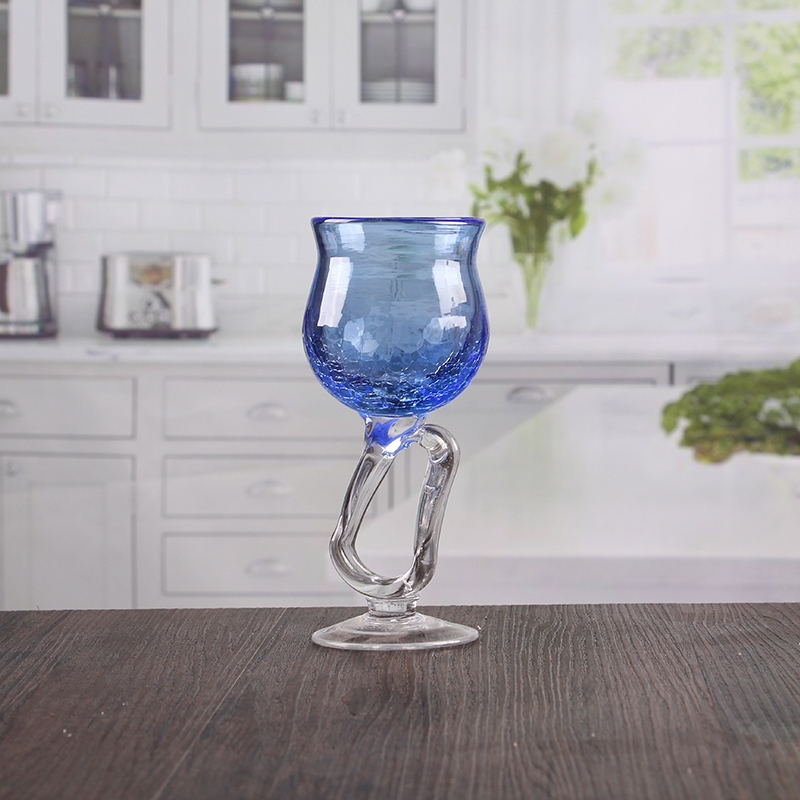 beautiful blue crack wine glass candle holder wholesale
