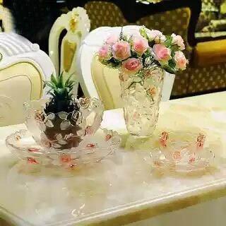 Beautiful Rose Glass Fruit Dish Wholesale