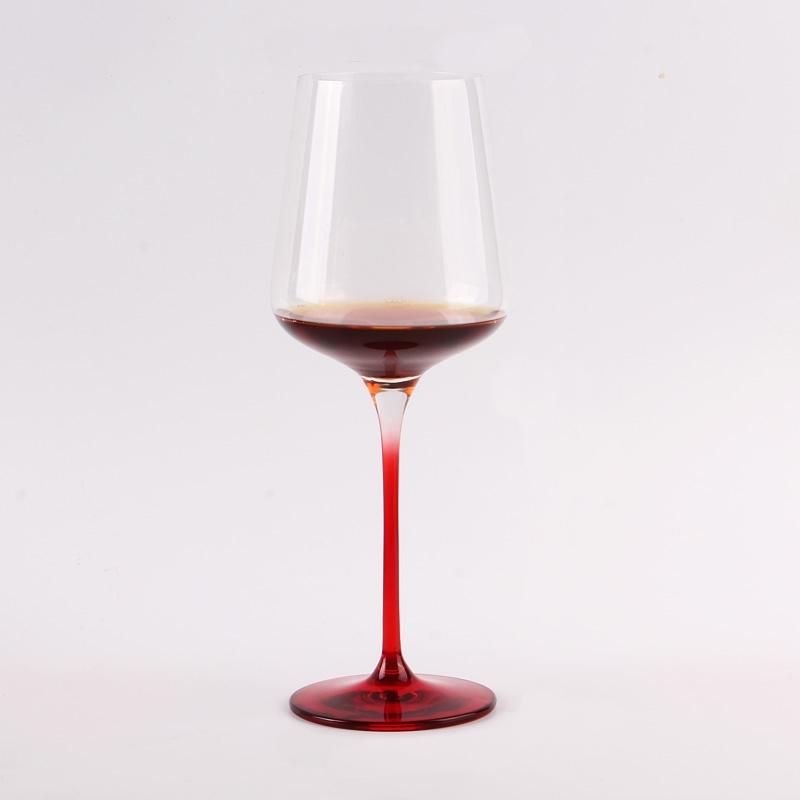 Blue red grey stem acrylic wine glasses on sale
