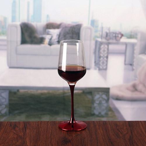 Cheap Goblets Crystal Wine Glasses Red Stem Wine Glasses