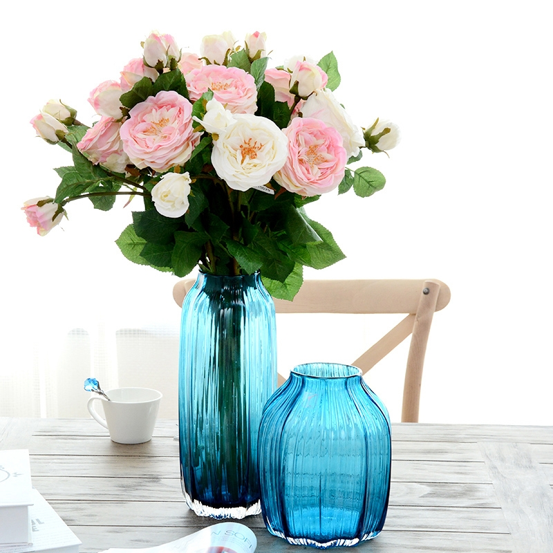 China Glass Vases On Sale Custom Made Hand Blown Glass Vase Colored Vases Wholesale