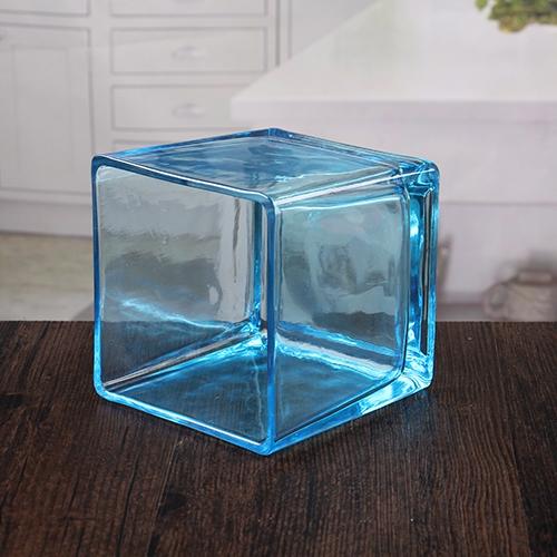 China vidrio cuadrado azul barata vela titulares proveedor - Proveedores de velas ...