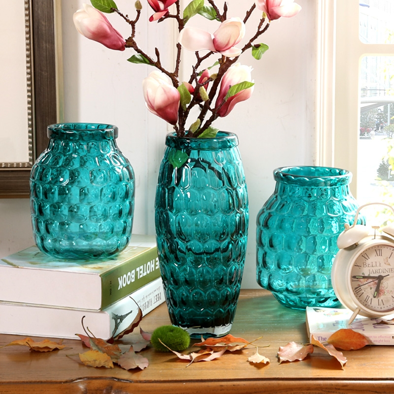 China decor vases manufacturer blue vases for sale small