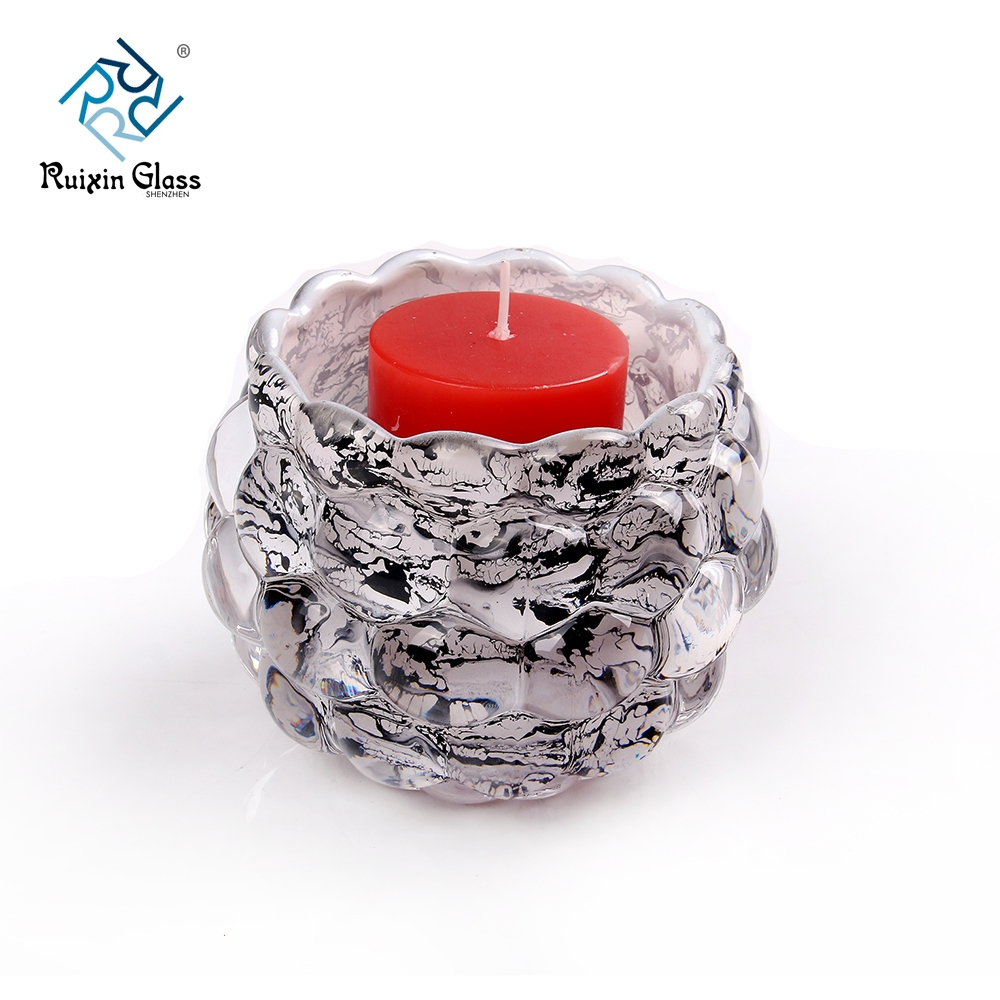 Decorative Glass Product : China decorative glass candle holders supplier and