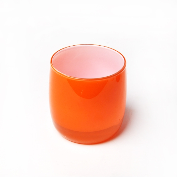China Factory For 8oz Colorful Glass Candle Holder