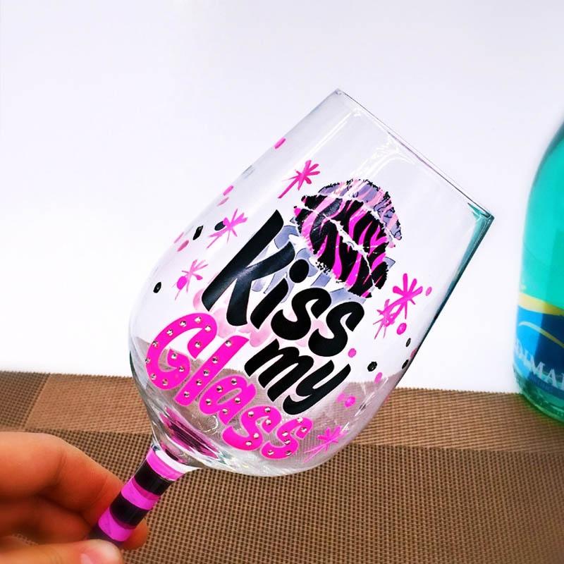 China Hand Painted Birthday Wine Glasses Manufacturers