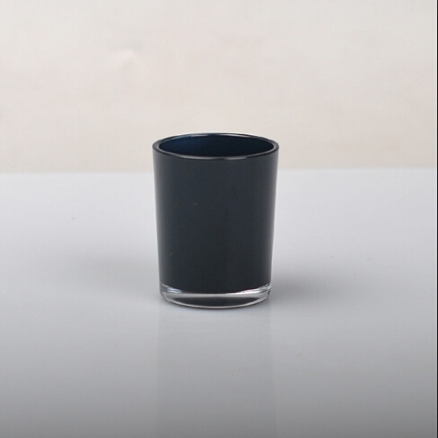 China modern candle jar manufacturer luxury black glass ...