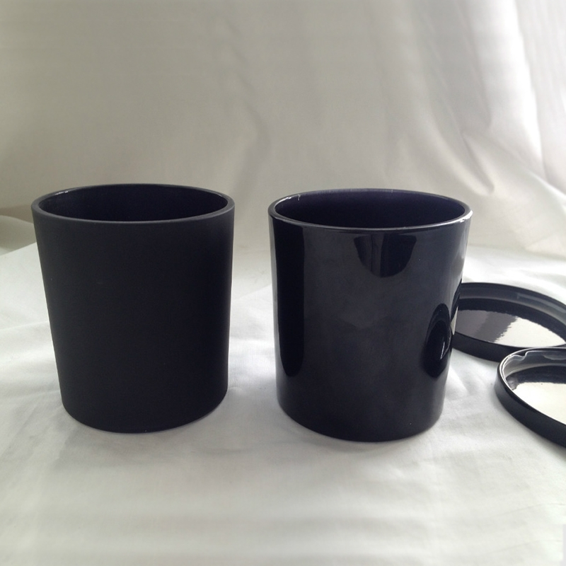 China Modern Candle Jar Manufacturer Luxury Black Glass
