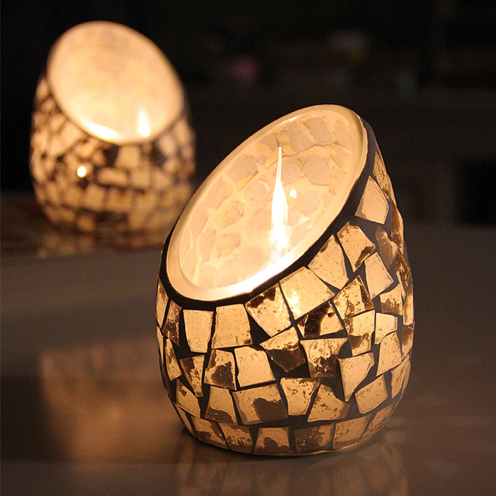 China New Modern Glass Candle Holders Manufactuere,cut