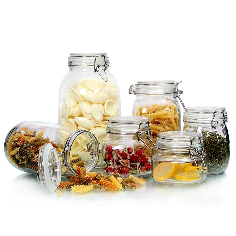 China small glass jars manufacturer glass storage jars and