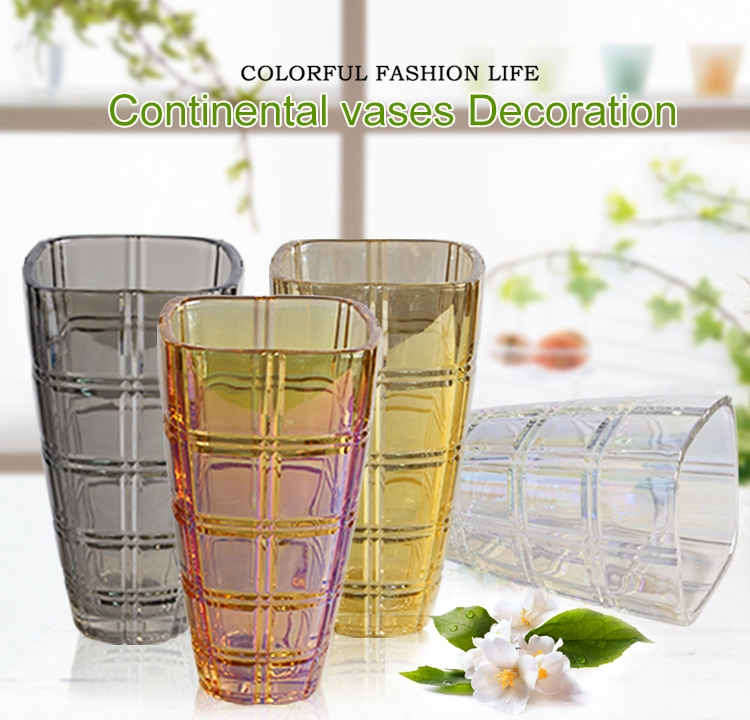 China Supplier Hot Selling Gold Electroplating Glass Vase Manufacturer
