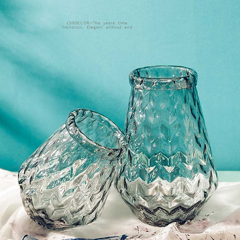 Clear flower vases home decor vases supplier for Home decor vases