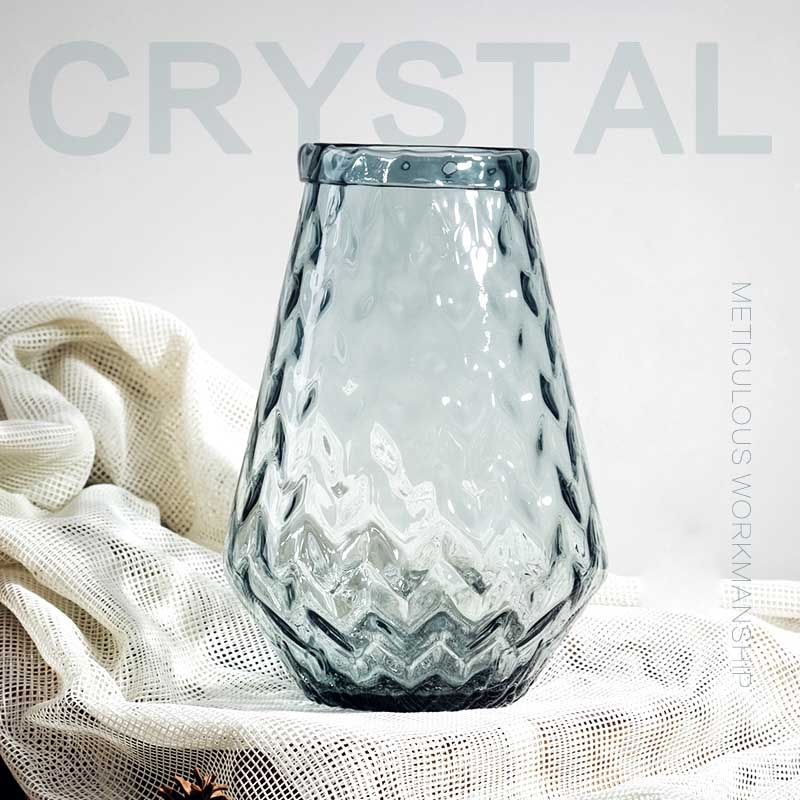 Clear flower vases home decor vases supplier for Home decor manufacturer