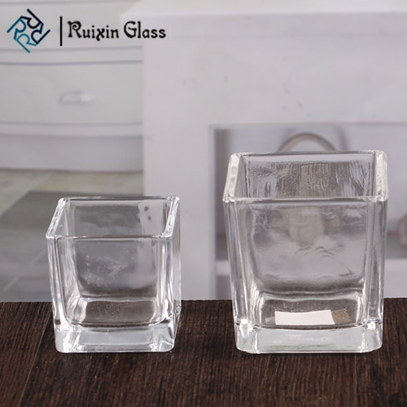 clear square glass candle holders navy blue square votive candle holders wholesale. Black Bedroom Furniture Sets. Home Design Ideas