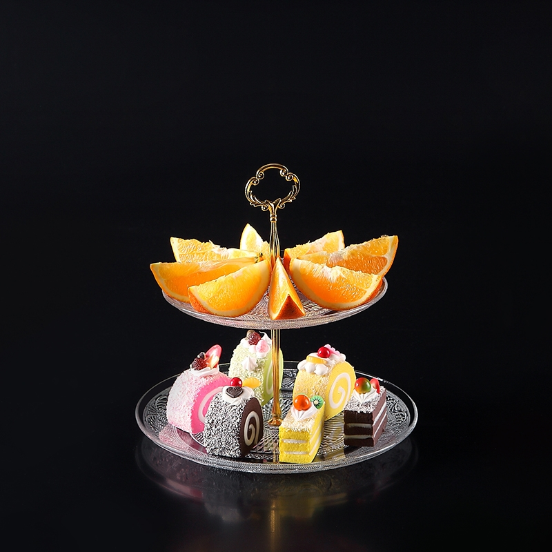 Creative Glass Three Tier Fruit Plate Wholesale Clear Glass Bowls Wholesale