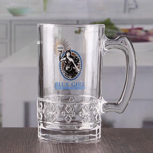 Custom printed beer glasses 15 oz bar beer vessels cheap