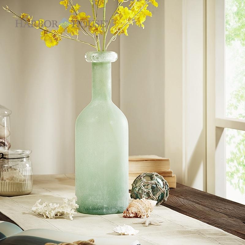 Jarrones decorados peque os floreros de cristal al por mayor for Jarrones de vidrio decorados
