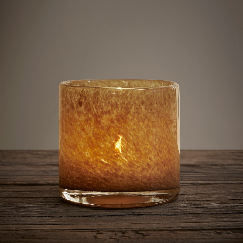 Glass candle holder manufacturer small