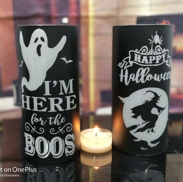 halloween glass candle holder wholesale candle holder for halloween decor