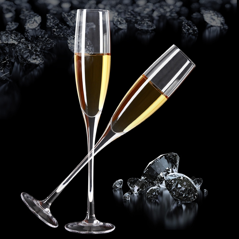 hand blown crystal wine glasses oblique mouth champagne flutes bulk goblets for for wedding. Black Bedroom Furniture Sets. Home Design Ideas